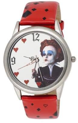 Disney Alice in Wonderland Women's AL1011 Queen Mirror Dial Leather Strap Watch
