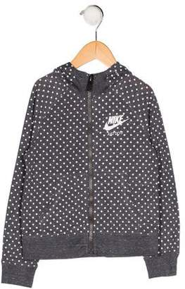 Nike Girls' Printed Hooded Jacket