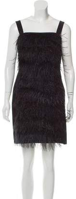 Blugirl Feather-Trimmed Flapper Dress