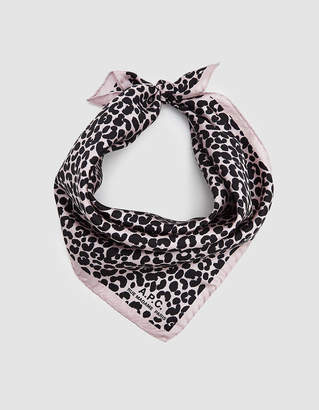 A.P.C. Printed Bandana in Rose