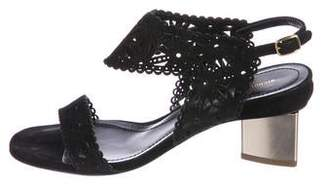 Nicholas Kirkwood Suede Laser-Cut Sandals