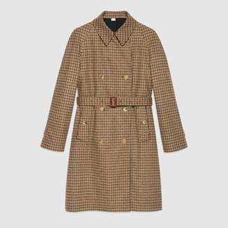Gucci Reversible check trench coat