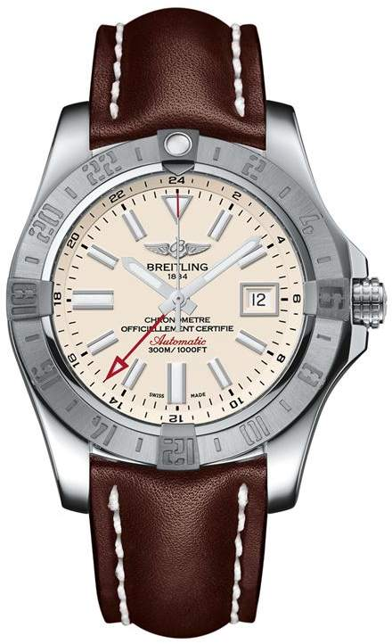 Stainless Steel Avenger II GMT Automatic Watch 43mm