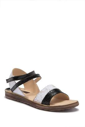Khrio Two-Tone Textured Leather Sandal