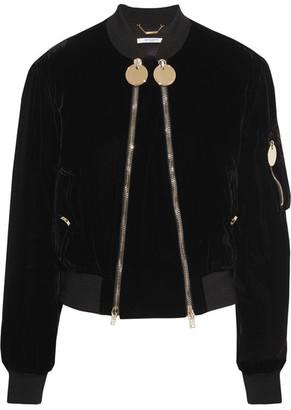 Givenchy - Velvet Bomber Jacket - Black $4,560 thestylecure.com