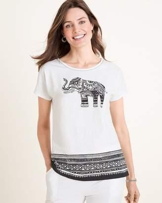 Zenergy Elephant-Print Tee