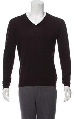 Prada Sport Virgin Wool V-Neck Sweater
