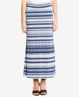 Karen Kane Ikat-Print Maxi Skirt