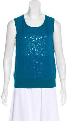 St. John Sequined Sleeveless Top