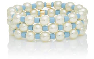 Roxanne Assoulin Set Of Three Gold-Tone Pearl And Bead Bracelet