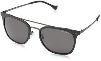 Police Sunglasses SPL152 Impact 1 Oval Polarized SunglassesSemi-Matt Black