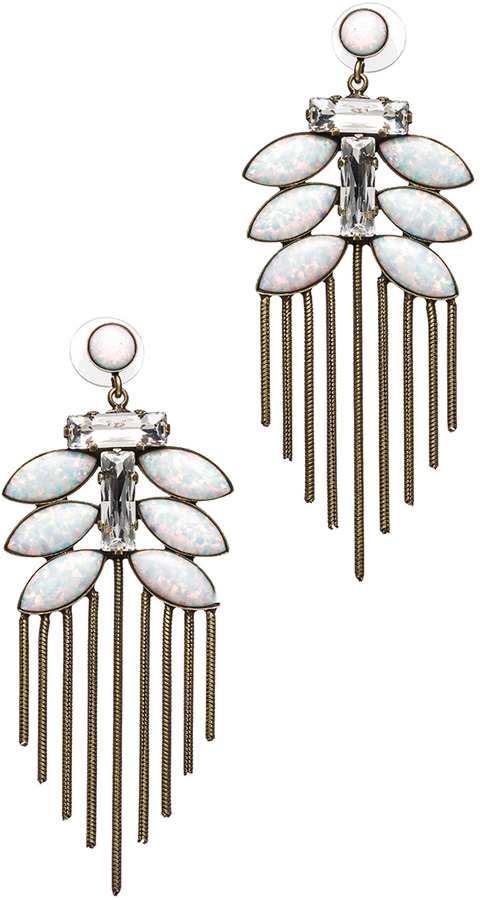 Lionette by Noa Sade Tahiti Antique Plated Earrings in White
