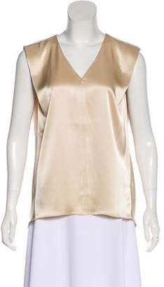 Halston Sleeveless V-Neck Top