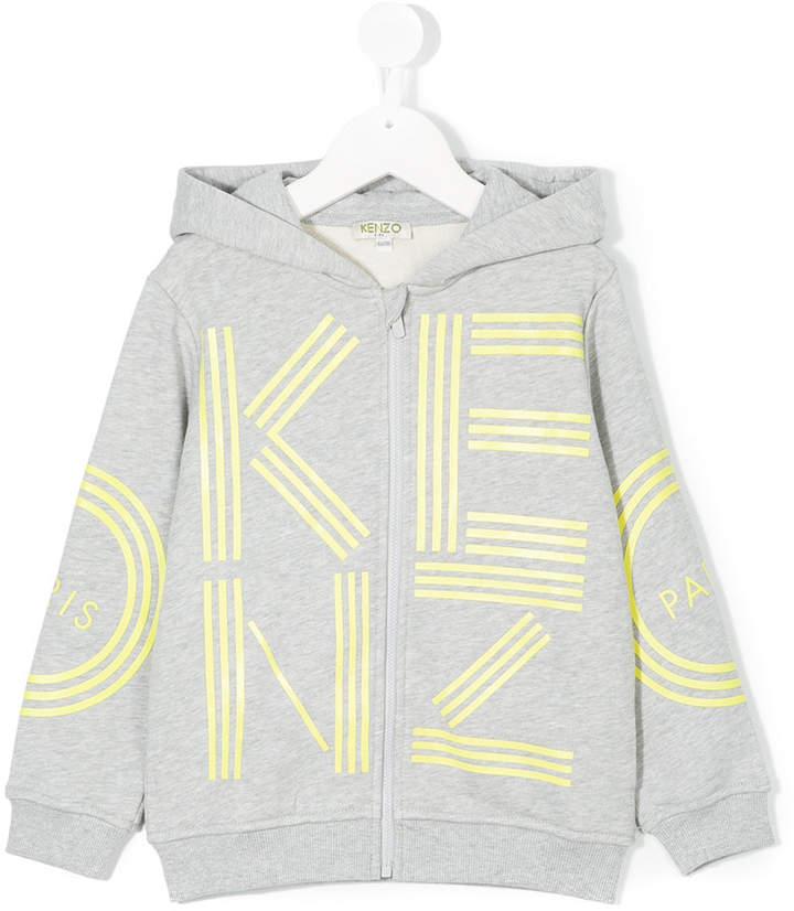 logo print zipped jacket