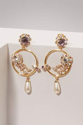 Erdem Hoop flowers earrings