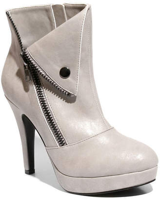 Two Lips 2 Lips Too Womens Snapped Bootie Spike Heel Zip