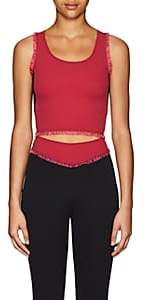 Sapopa Women's Mandy Ruffled Crop Top - Black