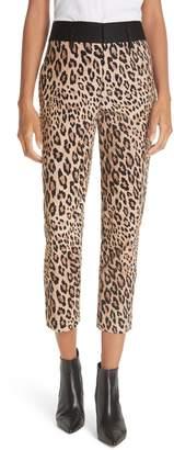 Frame Cheetah Print Tuxedo Pants