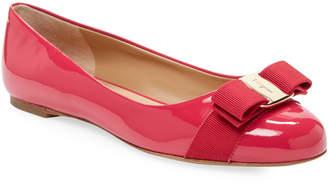 Salvatore Ferragamo Women's Patent Leather Bow Ballet Flats