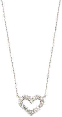 GIANTTI K18WG ダイヤモンド0.3ct ハートモチーフ ネックレス ホワイトゴールド