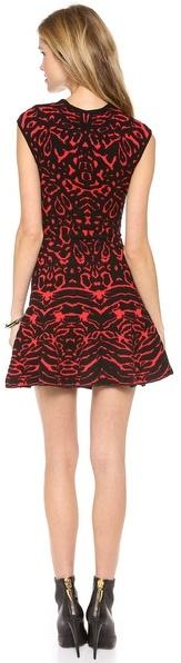 Torn By Ronny Kobo Animal Jaquard Malu Dress