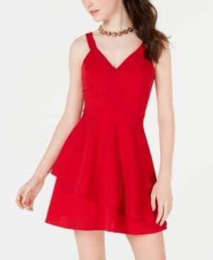 Teeze Me Juniors' Asymmetrical-Hem A-Line Dress