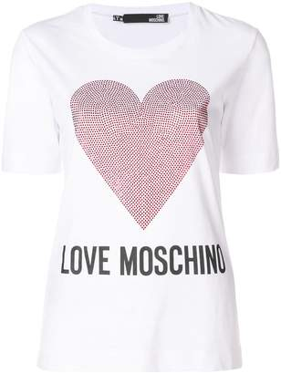 Love Moschino logo heart T-shirt