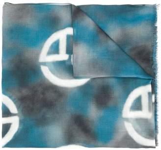 Giorgio Armani overdyed monogram scarf