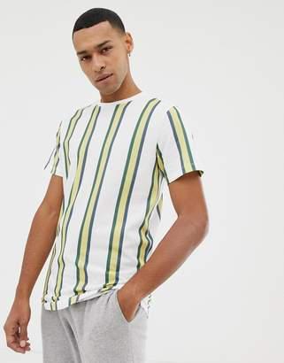 Jack and Jones Originals longline t-shirt with vertical stripe