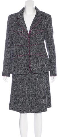 Chanel Chanel Woven Tweed Skirt Suit