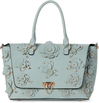 Urban Expressions Mint Embellished Paris Satchel
