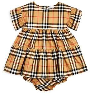 Burberry Girls' Alima Vintage Check Dress & Bloomers Set - Baby