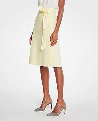 d2ebceb1d2 Ann Taylor Petite Linen Tie Waist Wrap Skirt