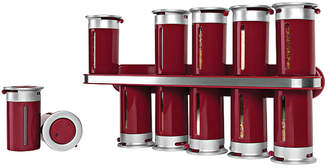 Zevro Zero Gravity 12-Canister Magnetic Wall-Mounted Spice Rack