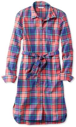L.L. Bean L.L.Bean Signature Madras Button-Front Shirt Dress