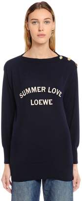 Loewe Boatneck Summer Love Wool Knit Sweater