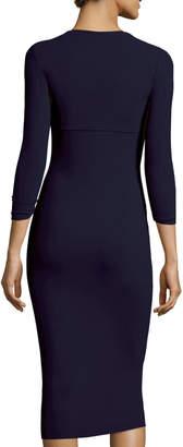 Chiara Boni Serenity 3/4-Sleeve Sweetheart Knee-Length Cocktail Dress