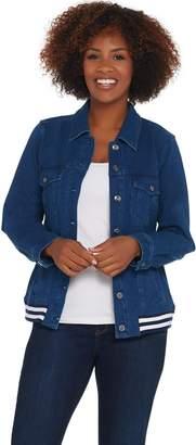 Denim & Co. Comfy Knit Jean Jacket w/ Rib Trim