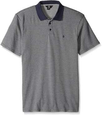 Volcom Men's Wowzer Plaid Polo Shirt