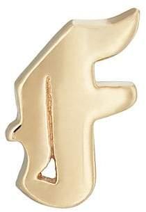 Bianca Pratt Women's Gothic Initial Stud Earring