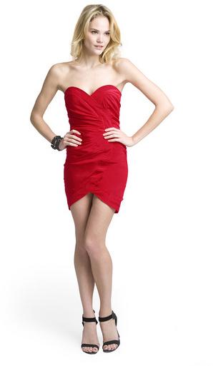 Alice + Olivia Andrea Asymmetrical Bustier Dress