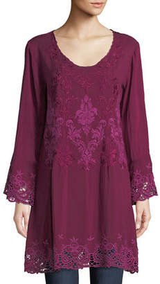 Johnny Was Robin Long Embroidered Georgette Tunic, Plus Size