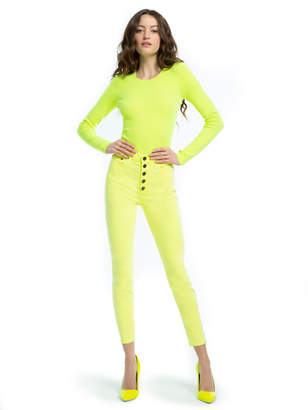 Alice + Olivia GOOD HIGH RISE NEON JEAN