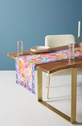 Anthropologie Paint + Petals Table Runner