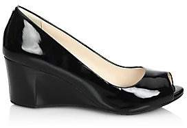 Cole Haan Women's Sadie Patent Leather Peep Toe Wedge Pumps