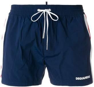 DSQUARED2 contrast stripe swim shorts