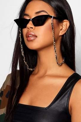 boohoo Gold Plaited Sunglasses Chain