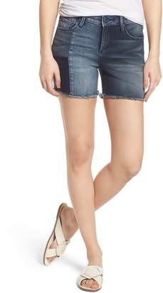 SLINK Jeans Patchwork Denim Shorts