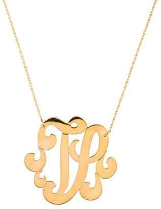 Jennifer Zeuner Jewelry Emily Large Swirly Initial 'V' Pendant Necklace