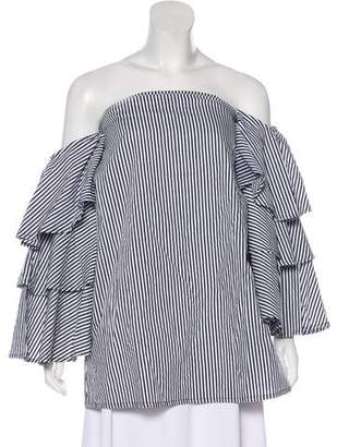 Faithfull The Brand Striped Off-The-Shoulder Top